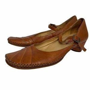Pikolinos Mary Janes Leather Round Toe Low Heel 39